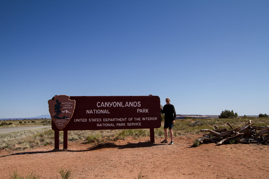 Canyonlands National Park - znak powitalny.